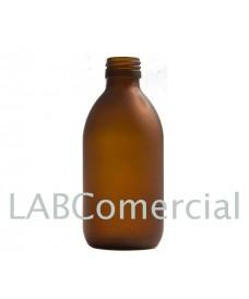 Frasco vidrio 250 ml ámbar glaseado rosca PP28