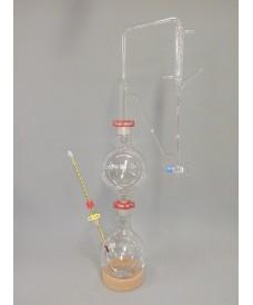 Aparato de destilación de vidrio para aceites esenciales por arrastre de vapor