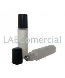10 ml Clear Glass Bottle & Stainless Steel Roll-On