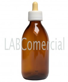 Flacon jaune 60 ml compte-gouttes PP28