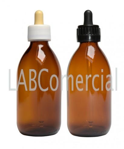 Frasco rosca 250 ml cuentagotas PP28 ámbar