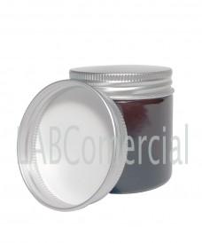 Bote de vidrio ámbar 60 ml con tapa aluminio