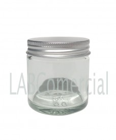 60 ml Clear Glass Jar & Aluminium Screw Cap