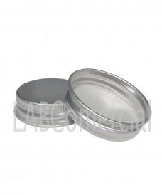 Tapa a rosca de 51mm de aluminio color plata