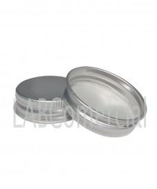 51mm Screw Aluminium Silver Cap
