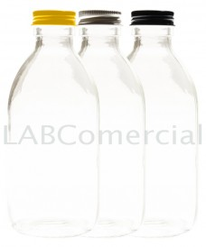 Flascó 1000 ml rosca PP28 tapa alumini transparent