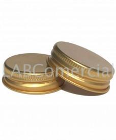 Tapa rosca 38 mm aluminio dorado