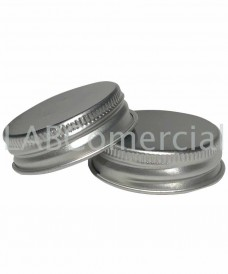 38mm Aluminium Silver Screw Closure