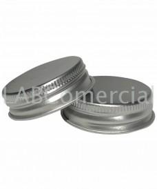 Tapa rosca d'alumini plata 38 mm