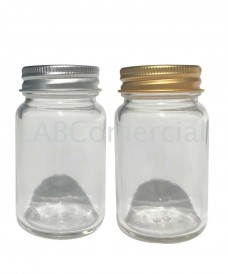 125ml Clear Glass Powder Bottles & Aluminium Screw Cap