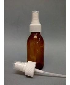 Flacon jaune 250 ml avec pompe spray à vis PP28