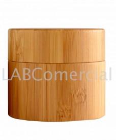 Bote cosmético bambú rosca 50ml con tapa