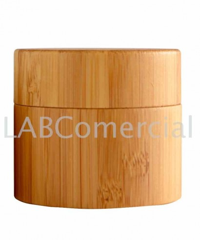 50ml Bamboo Cosmetic Jar with Shive and Lid