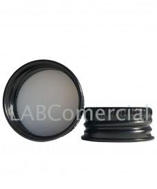28mm Black Aluminium Screw Cap