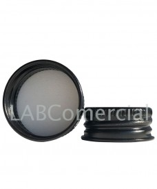 Tapa rosca 28 mm alumini negre