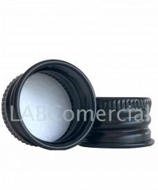Tapa a rosca DIN18 / 18 mm en aluminio negro