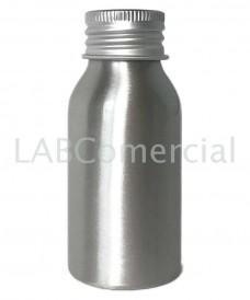 Flacon aluminium 50ml bouchon à vis DIN24