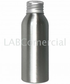 Flacon aluminium 100ml bouchon à vis DIN24