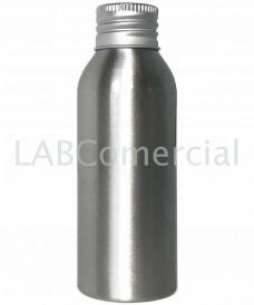 Frasco de aluminio 100ml tapa rosca DIN24