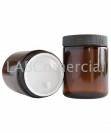 Pot jaune 250 ml avec couvercle à vis noire