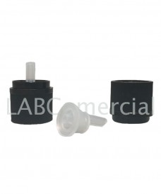 Tapa seguretat antichild rosca DIN18 degotador negre