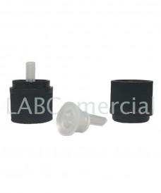 18mm Black Tamper Evident Screw Closure & Vertical Dropper Insert