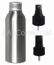 Frasco aluminio 100ml spray atomizador