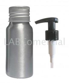 Frasco aluminio 30ml y bomba dosificadora 24mm