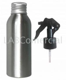 Flacon aluminium 100 ml et spray à gâchette 24mm