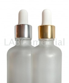 Compte-gouttes doré à vis 18mm tube verre 110mm