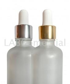 Compte-gouttes doré à vis 18mm tube verre 55mm