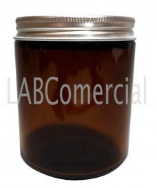 250ml Amber Glass Jar & Aluminium Screw Cap