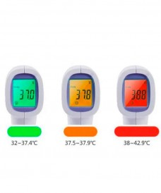 Display of the infrared thermometer according to the result of the non-contact temperature measurement